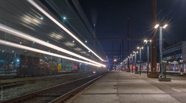 DSB tog kører mod Aarhus