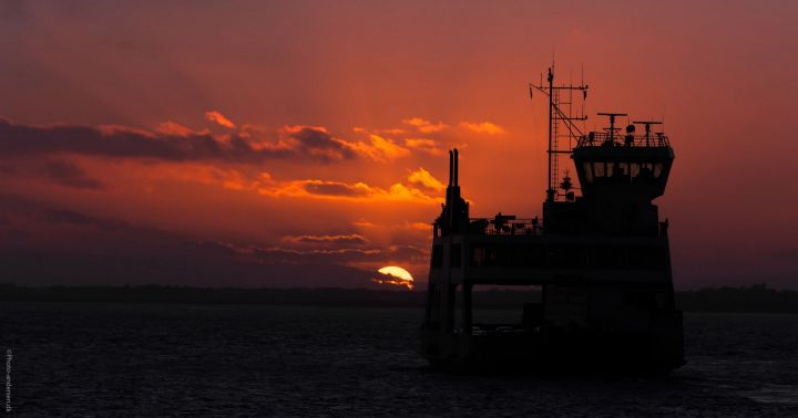 fanøfærgen i solnedgang