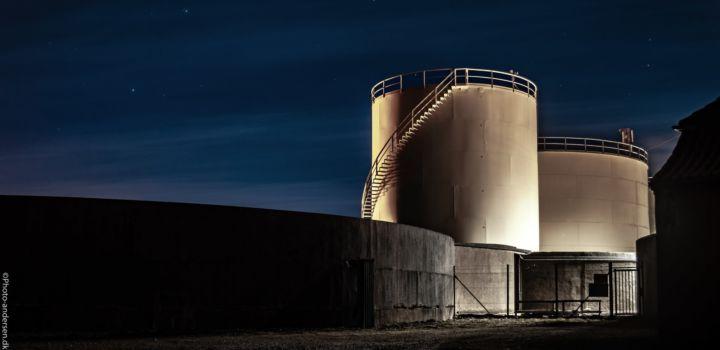 Q8 benzin tank ved Esbjerg Havn