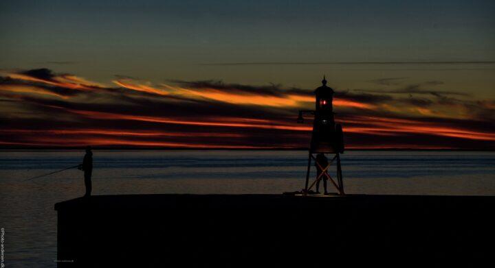 Solnedgang over Esbjerg havn