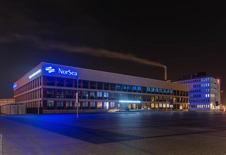 NorSea Group ved dokhavnen i Esbjerg havn. Et nyt domicil som blev bygget i 2020 efter deres gamle var forfalden