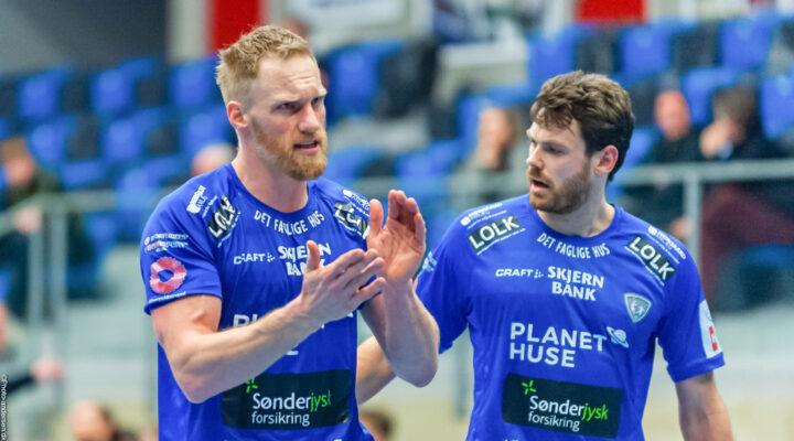 Miha Zvizej fra REHH stod og klappede af Søren Ramussens redning mod Skjern Håndbold