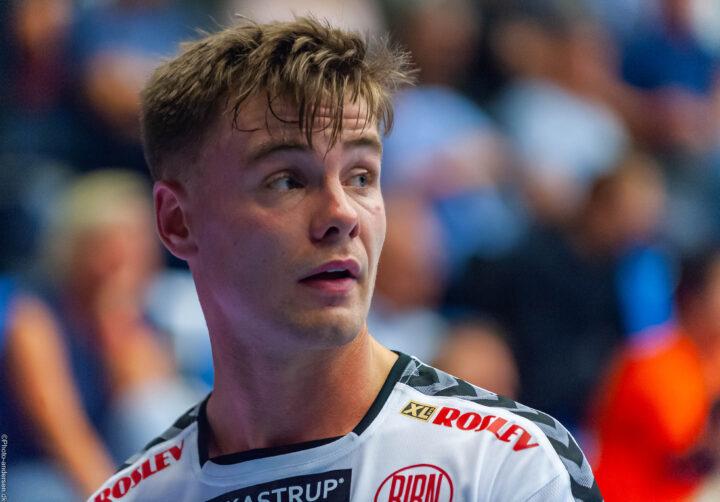 Odin Thor Rikardsson i kamp mod Ribe Esbjerg HH i Blue Water Dokken